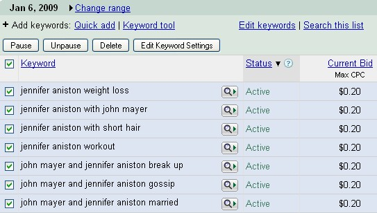 Google Adwords Screenshot 5