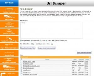 AffExpert URL Scraper